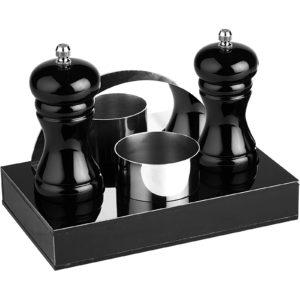 Dörtlü Menaj Set Siyah GRV 198