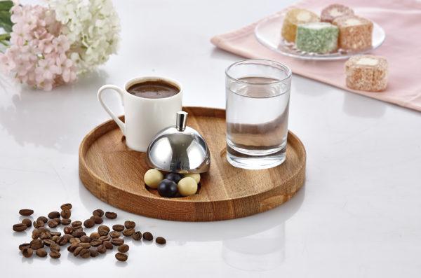 Ahşap Yuvarlak Türk Kahve Seti GRV 301