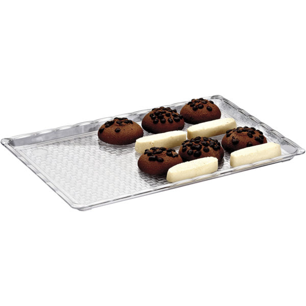 Polikarbonat Pastane Teşhir Tepsi 20 x 30 cm BRD Ç002