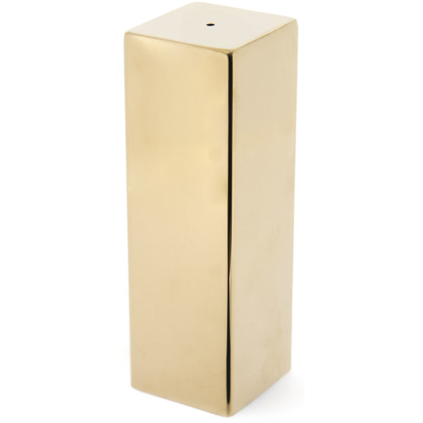 Tekli Kare Bibelik Altın Single Square Pepper Shaker Gold Grv 109 XL Altın